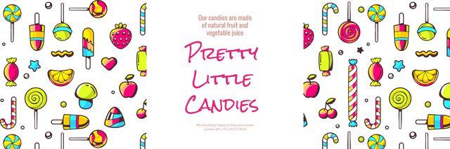 Template di design Pretty little candies banner Twitter