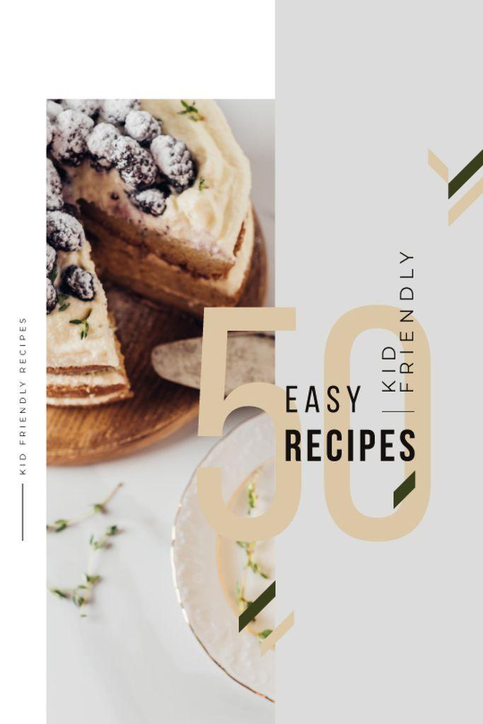 Plantilla de diseño de Recipes Guide Sweet Cake with Berries Tumblr