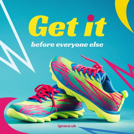 Template di design Sports Store Pair of running Shoes Instagram AD