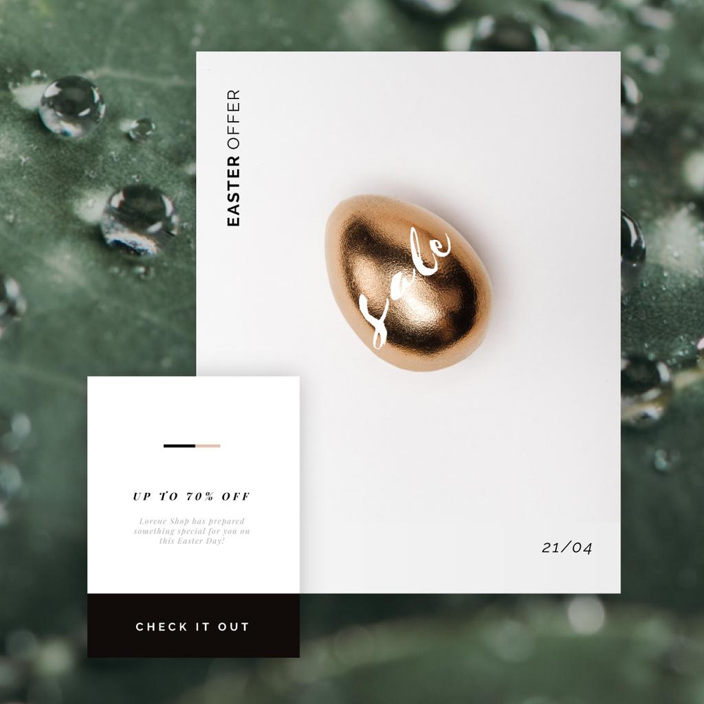 Golden Easter egg — Створити дизайн