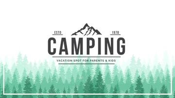 Camping Tour Ad Green Coniferous Forest | Full Hd Video Template
