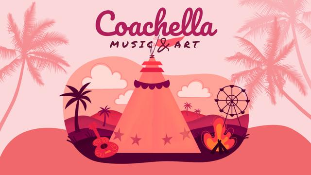 Girl at Coachella festival Full HD video Design Template