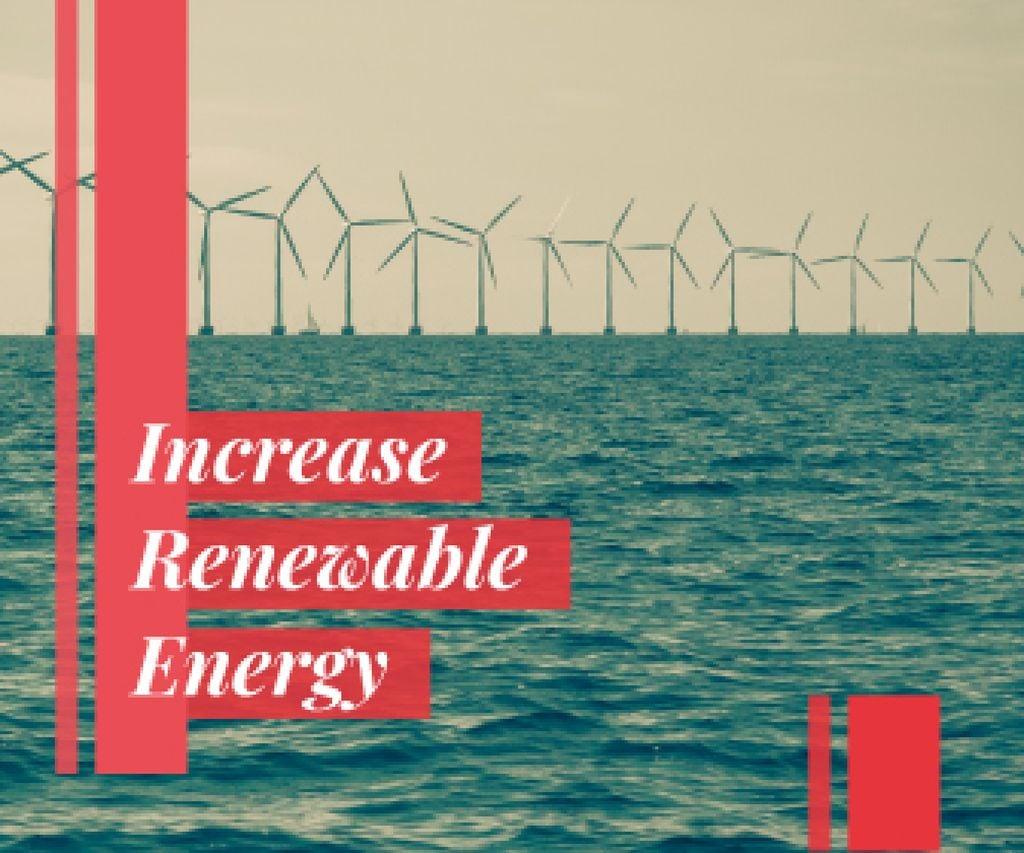 Renewable Energy Wind Turbines Farm — Maak een ontwerp