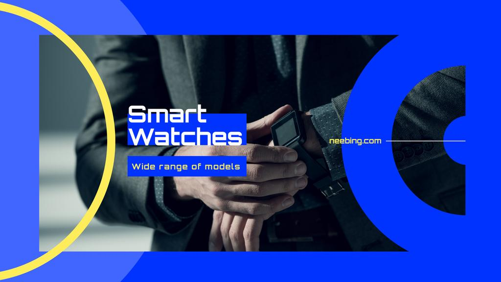 Man Wearing Smart Watch — Crea un design