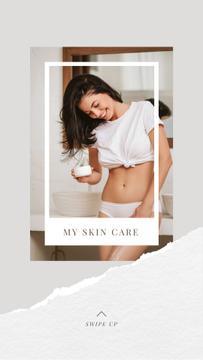 Smiling Woman for Skincare routine