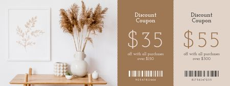 Ontwerpsjabloon van Coupon van Home Decor discount offer