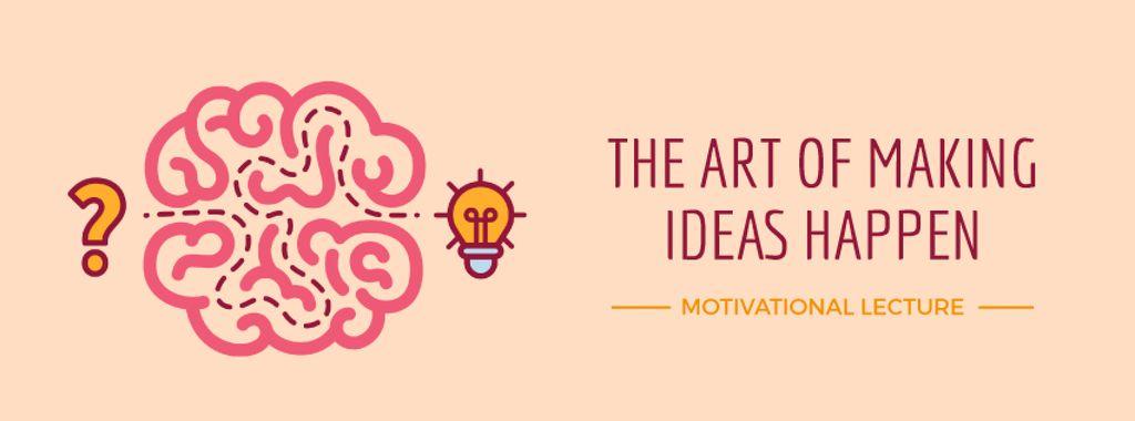 Creative idea icon with brain — Maak een ontwerp