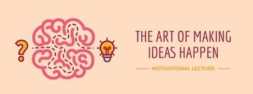 Creative idea icon with brain