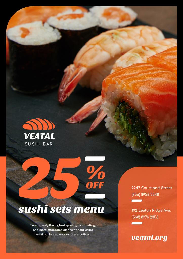 Japanese Restaurant Offer with Fresh Sushi — Crea un design