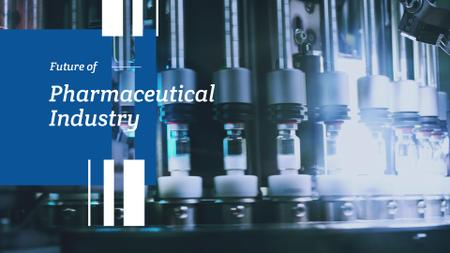 Designvorlage Pharmaceutical Industry with Medicine on production line für Full HD video