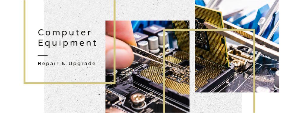 Engineer working with circuit board — Créer un visuel