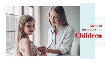 Plantilla de diseño de Pediatrician examining child Presentation Wide