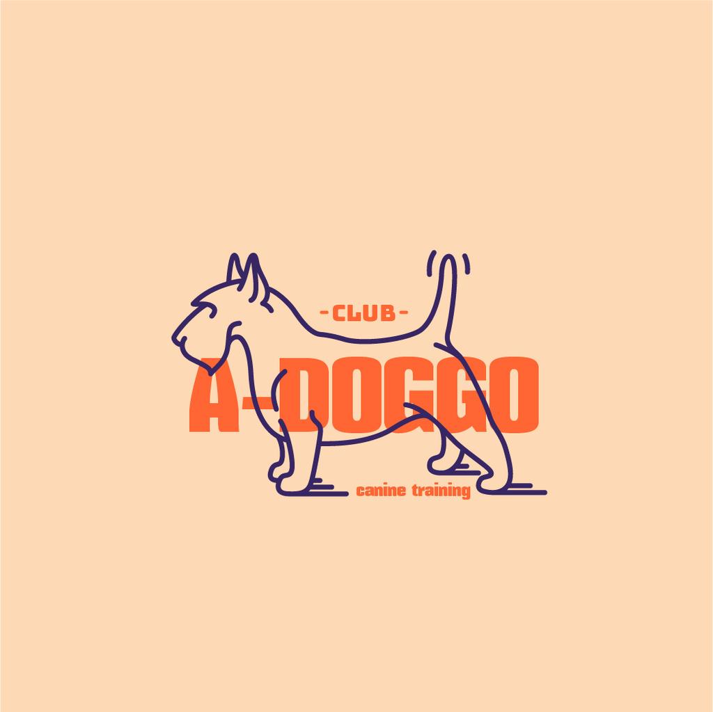 Plantilla de diseño de Canine Training Club with Funny Dog Logo