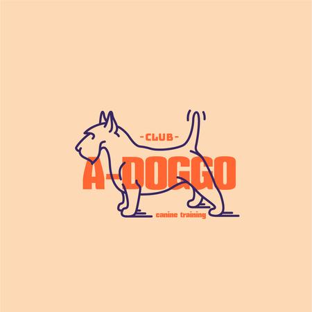 Canine Training Club with Funny Dog Logo Modelo de Design