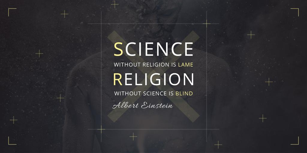 Citation about science and religion — Создать дизайн