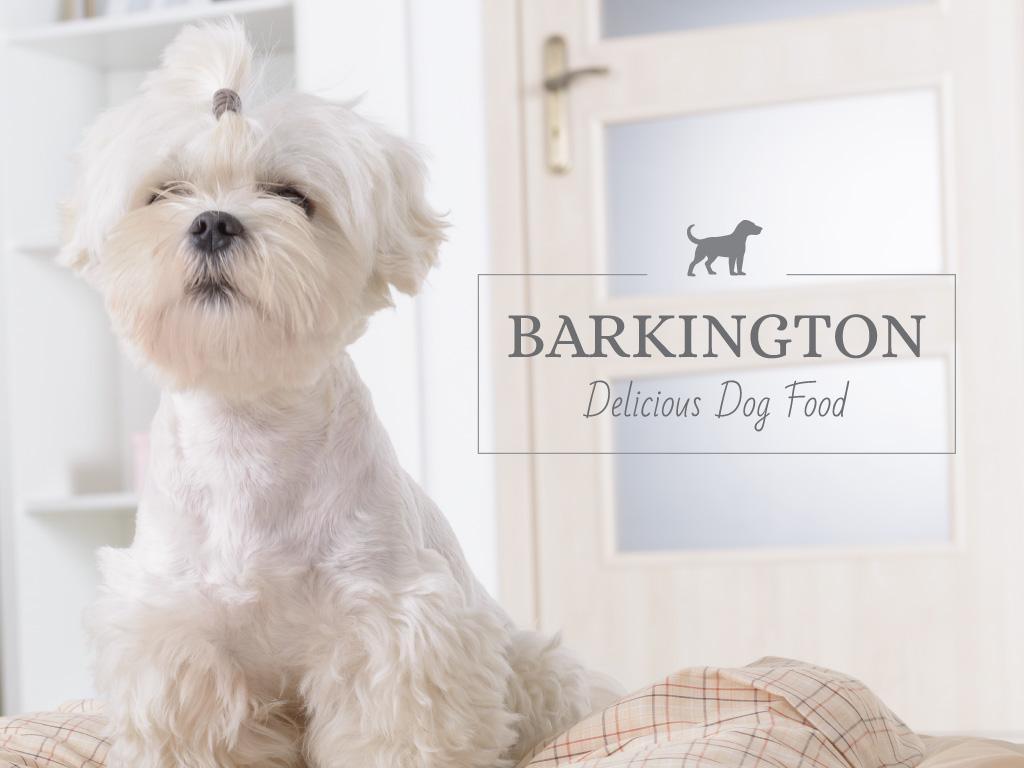 Barkington delicious dog food — Створити дизайн