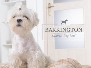Barkington delicious dog food