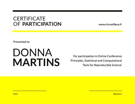 Science Conference Participation gratitude Certificate Modelo de Design