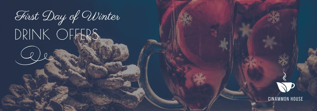 First day of winter Drinks offer — Créer un visuel