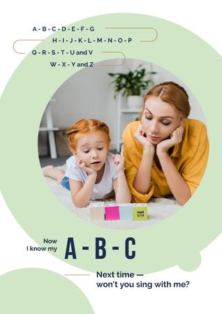 Template di design Mother Teaching Her Daughter Poster