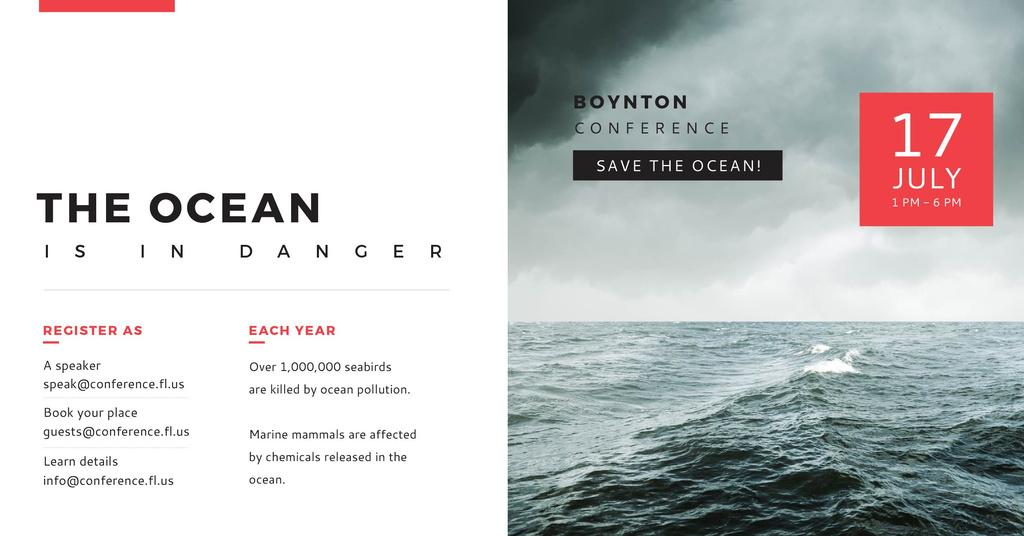 Boynton conference the ocean is in danger — Створити дизайн