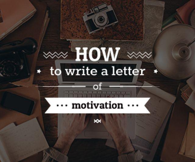 Plantilla de diseño de how to write a letter of motivation banner Large Rectangle