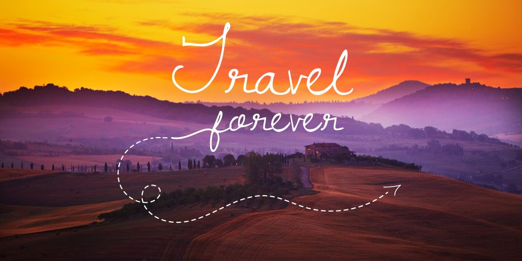 Motivational travel quote — Crear un diseño