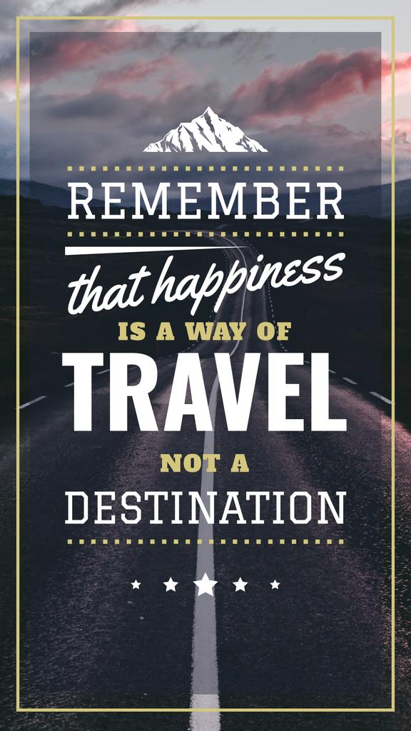 Travel Quote Empty Road View — Crea un design