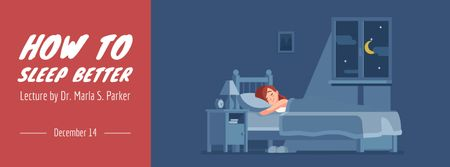 Plantilla de diseño de Girl sleeping day and night Facebook Video cover