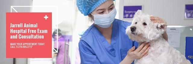 Plantilla de diseño de Dog in Animal Hospital Email header