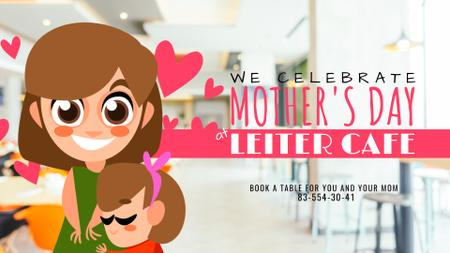 Mother's Day Daughter hugging Mom Full HD videoデザインテンプレート