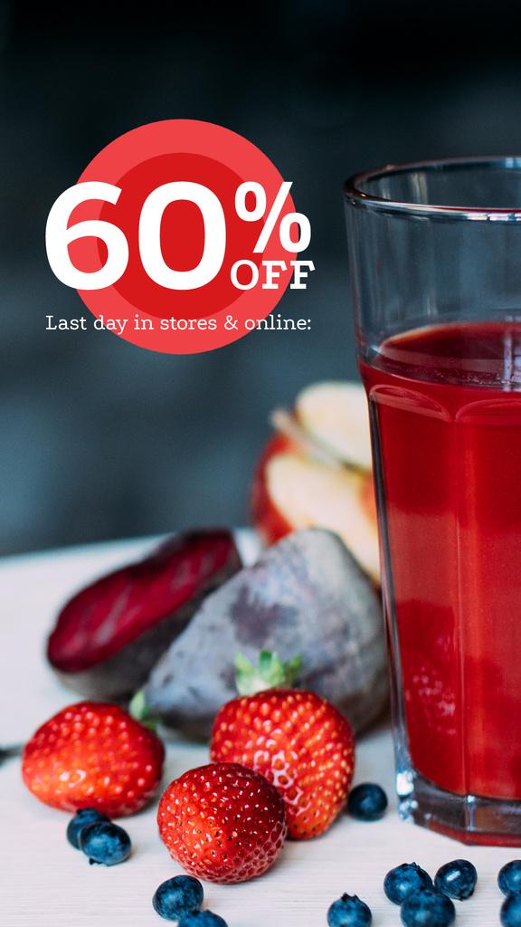 Healthy Nutrition Offer with Glass of Juice — Maak een ontwerp