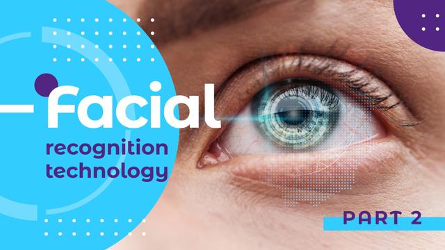 Facial Recognition Technology Blue Human Eye Youtube Thumbnail Design Template