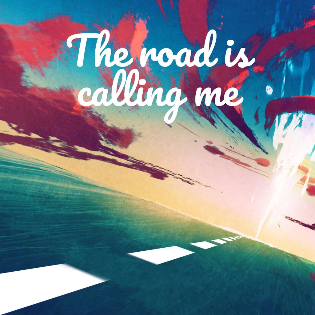 Road under sunset sky — Створити дизайн