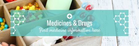 Template di design Medicine information Ad Email header
