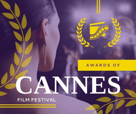 Plantilla de diseño de Woman at Cannes Film Festival Facebook