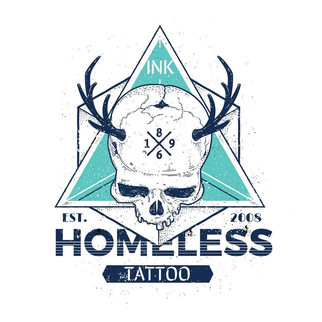Tattoo Studio Ad with Skull Instagram AD Design Template