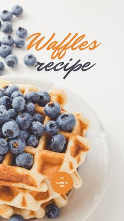 Plantilla de diseño de Recipe Ad with Tasty Waffle Instagram Story
