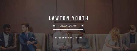 Youth organization services with young people Facebook coverデザインテンプレート