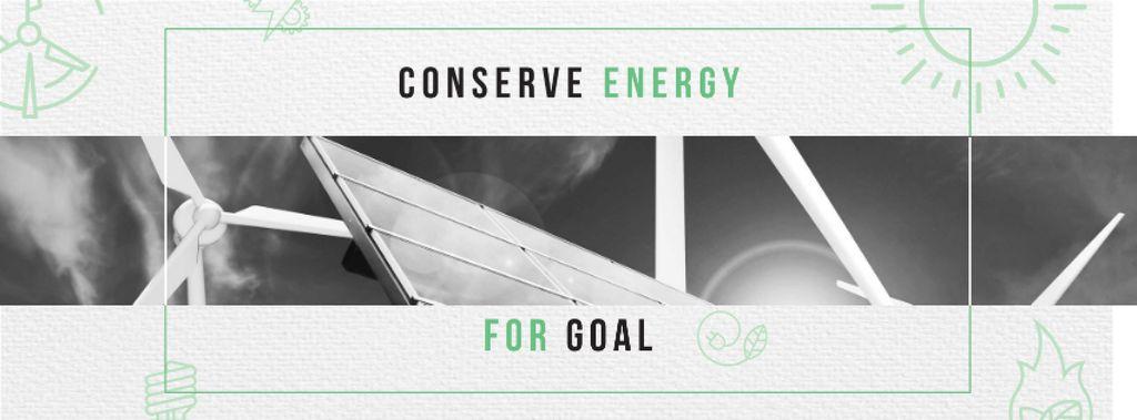 Green Energy Wind Turbines and Solar Panels — Crear un diseño