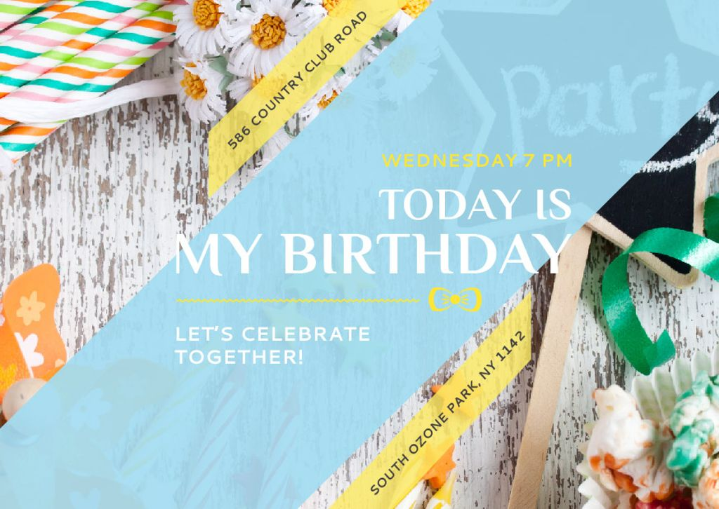 Birthday party in South Ozone park — Crea un design