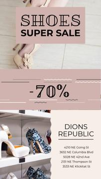 Female Shoes Store Sale in Pink | Vertical Video Template