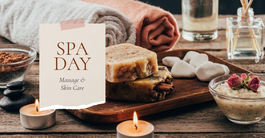Spa Salon Offer Skincare Products and Soap — Crea un design