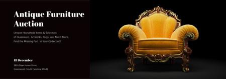 Plantilla de diseño de Antique Furniture Auction Luxury Yellow Armchair Tumblr