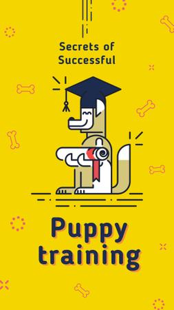 Funny dog with diploma Instagram Storyデザインテンプレート