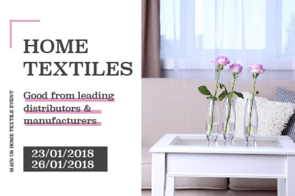 Home textiles global tradeshow — Crea un design
