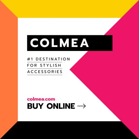 Accessories Offer in Colorful geometric Frame Instagram Modelo de Design