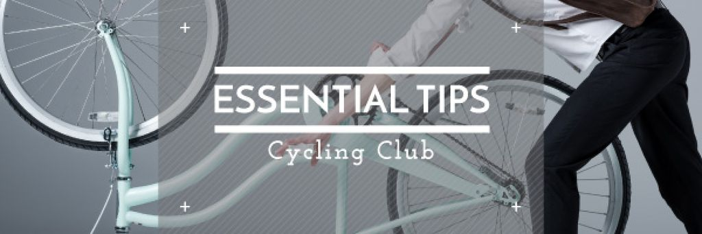 essential tips for cycling club poster — Crear un diseño
