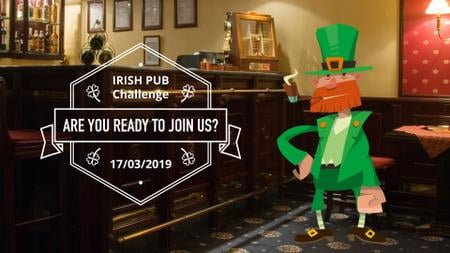 Modèle de visuel Saint Patrick's Leprechaun in Pub - Full HD video