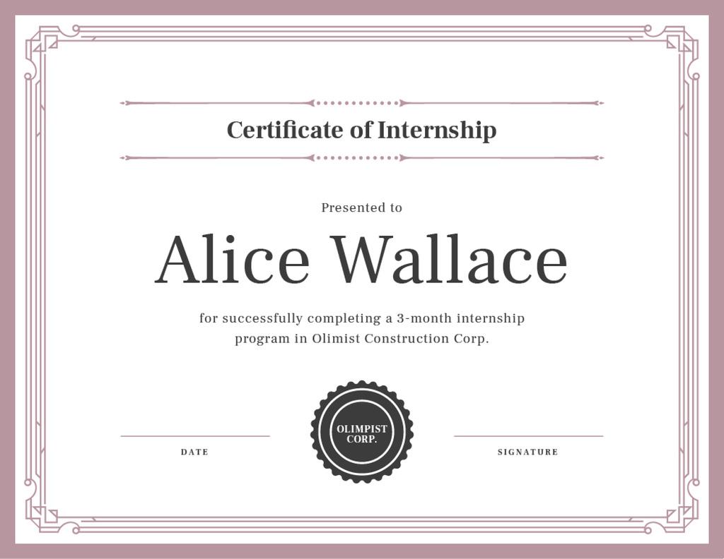 Construction Company internship completion — Create a Design